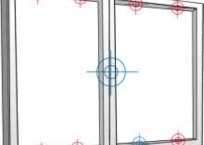 5 gâches de sécurité par vantail (option)