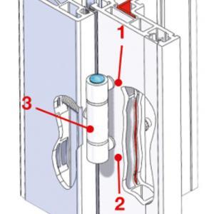 Ferrage triple broche PVC Carlis